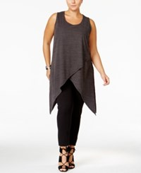 Mblm By Tess Holliday Trendy Plus Size Layered Tunic Black