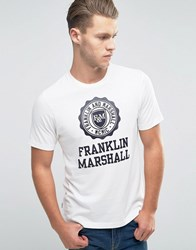 Franklin And Marshall Large Logo T Shirt Old White