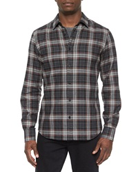 Belstaff Woodham Long Sleeve Flannel Shirt Gray