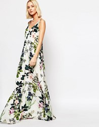 Gestuz Maxi Dress In Floral Print Multi