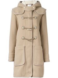 Carven Toggle Fastening Duffle Coat Nude And Neutrals