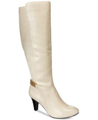 Karen Scott Haidar Tall Boots Only At Macy's Women's Shoes White
