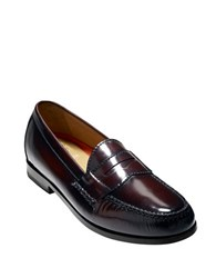 Cole Haan Pinch Grand Leather Penny Loafers Burgundy