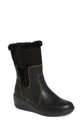 Women's Softspots 'Corby' Waterproof Wedge Boot Black Black Leather