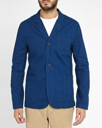 Edwin 3 Button Denim Blue Jacket With Patch Pockets