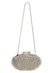 Phase Eight Olivia Beaded Clutch Bag Pewter