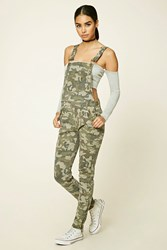 Forever 21 Camo Print Overalls