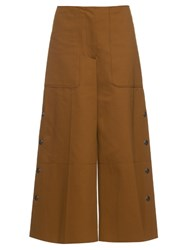 Sonia Rykiel 1970S Long Cotton Blend Jersey Culottes Tan