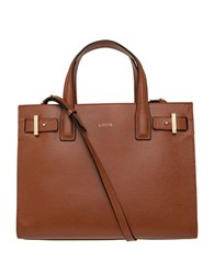 Lodis Stephanie Tara Medium Leather Satchel Chestnut