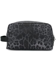 Dolce And Gabbana Leopard Print Wash Bag Grey