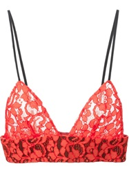 Msgm Lace Bralet Yellow And Orange