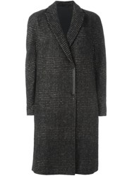 Brunello Cucinelli Checked Knee Length Coat Brown