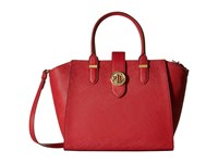 Lauren Ralph Lauren Charleston Shopper Crimson Handbags Red