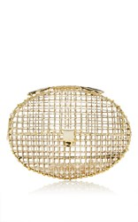 Anndra Neen Oval Cage Clutch Gold