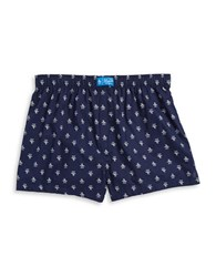 Original Penguin Print Cotton Boxers Midevial Blue
