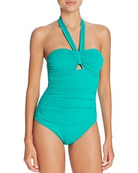 Ralph Lauren Beach Halter One Piece Swimsuit Emerald