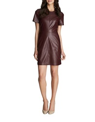 1 State Faux Leather Shift Dress Cherry