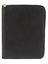 Alexander Mcqueen Leather Ipad Case Black