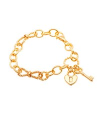 Lord And Taylor Goldtone Lock Key Charms Bracelet