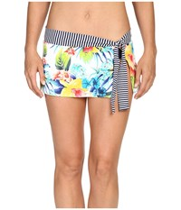 Tommy Bahama Fleur De Lite Skirted Hipster Bikini Bottom Multicolor Women's Swimwear