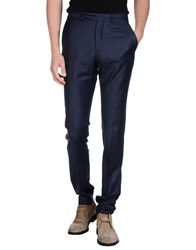 Hardy Amies Trousers Casual Trousers Men Dark Blue