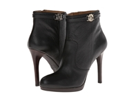 Armani Jeans Classic Leather Bootie Black