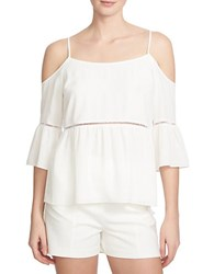 1.State Cutout Shoulder Peasant Top White