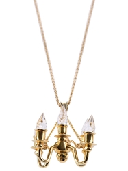 Miss Bibi Chandelier Pendant Necklace Metallic