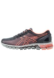 Asics Gelquantum 360 2 Neutral Running Shoes India Ink Flash Coral Midgrey