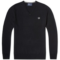 Fred Perry Classic V Neck Sweater Black