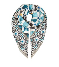 Eskandar Alhambra Print Shawl Female Brown
