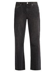 Raey Flood Flared Jeans Black