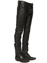 Faith Connexion 16.5Cm Lace Up Washed Leather Jeans