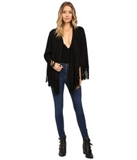 Show Me Your Mumu Marfa Fringe Jacket Black Faux Suede Women's Coat