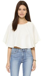 Viva Aviva Cape Ruffle Crop White
