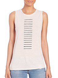 Rag And Bone Concert Line Front Tank White