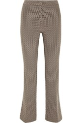 Etro Gemma Cropped Jacquard Flared Pants Black