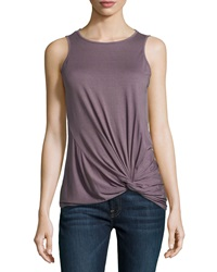 Three Dots Twist Front Tank Top Chanterelle