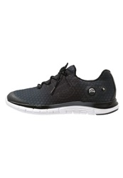Reebok Zpump Fusion Cushioned Running Shoes Black Flat Grey White