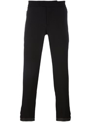 Les Hommes Side Zip Tapered Trousers Black