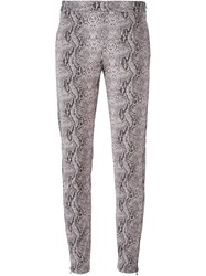 Giamba Snakeskin Print Trousers Pink And Purple