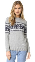 Penfield Hickman Snowflake Sweater Grey
