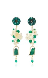 Of Rare Origin Jade Nesters Earring Green
