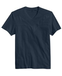 Inc International Concepts Men's Equilateral V Neck T Shirt Only At Macy's Basic Navy