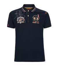 La Martina Pony Sketch Polo Shirt Male