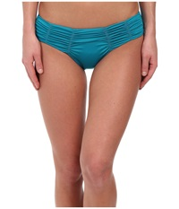 Badgley Mischka Solids Pin Stitch Brief Peacock Women's Swimwear Multi