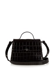 Elizabeth And James Eloise Mini Crocodile Effect Leather Bag Black