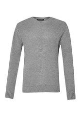 French Connection Swipe Knits Ls Crew Nk Jumper Grey