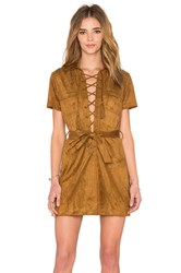 Capulet Lace Up Dress Brown