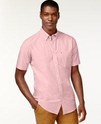 Tommy Hilfiger Maxwell Short Sleeve Button Down Shirt Pebble Pink